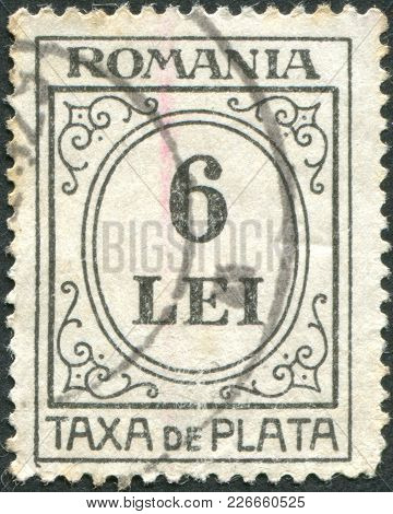 Romania - Circa 1924: A Stamp Printed In The Romania, Postage Due Stamps, Circa 1924