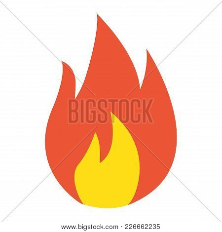 Flammable Symbol Flat Icon, Logistic And Delivery, Fire Sign Vector Graphics, A Colorful Solid Patte