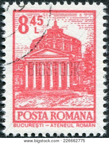 Romania - Circa 1972: A Stamp Printed In The Romania, Shows The Romanian Athenaeum, Bucharest, Circa