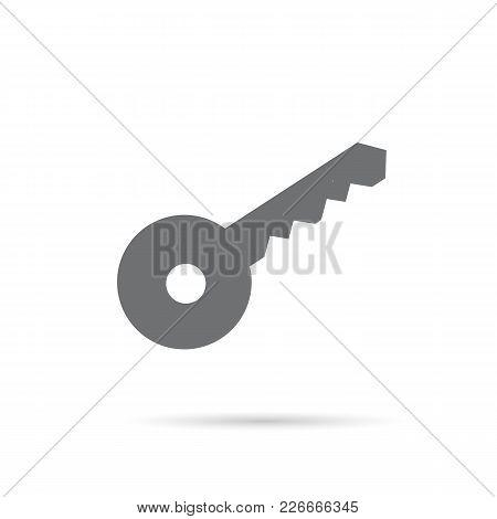 Icon Key Gray On A White Background