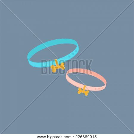 Bow collar icon isolated on background