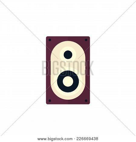 Audio Speaker Icon, Flat Style, Eps 10 File, Easy To Edit