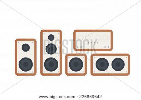 Audio Speakers Vector Illustration, Eps 10 File, Easy To Edit