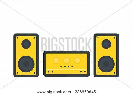 Audio System Vector Illustration, Eps 10 File, Easy To Edit