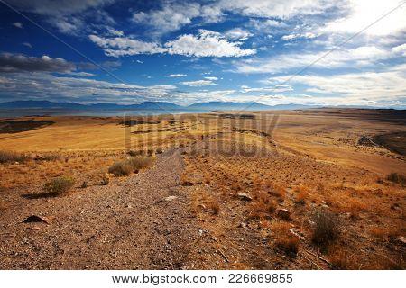 Prairie landscapes near Salt Lake city, Utah, USA