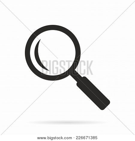 Search. Vector Icon Isolated On White Background.
