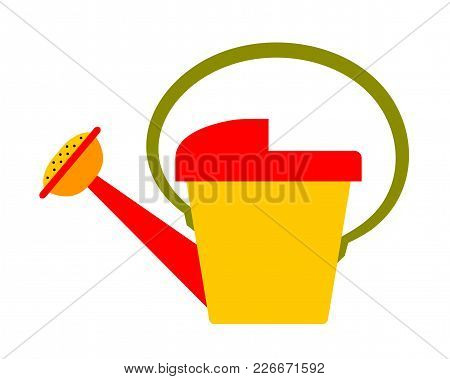 Vector Watering Can Isolated On White Background