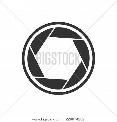 Shutter Simple Basic Shape Symbol Vector Graphic Logo Design