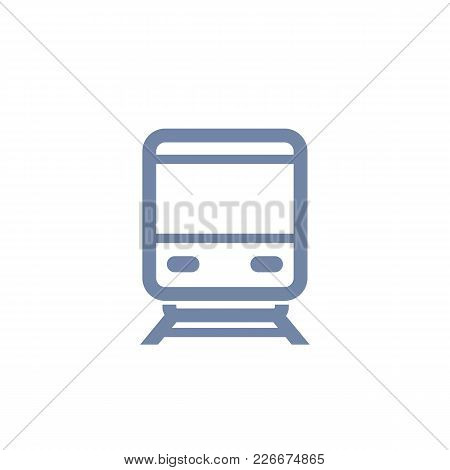 Subway Icon, Public Transport, Isolated Over White, Vector Illustration, Eps 10 File, Easy To Edit