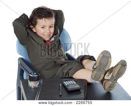 Boy Having A Break
