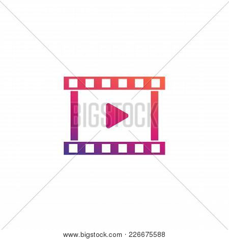 Video Logo Element, Vector Icon, Eps 10 File, Easy To Edit