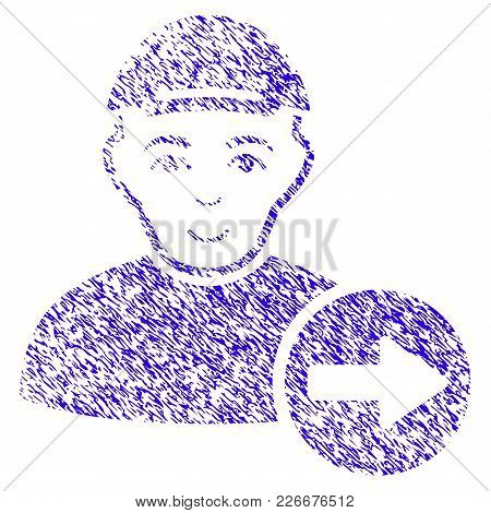 Grunge Following Man Rubber Seal Stamp Watermark. Icon Symbol With Grunge Design And Unclean Texture