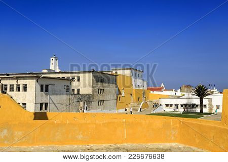 Peniche, Portugal - October 8, 2017: View Of The Old Political Prison, Today A Museum, Within The Wa