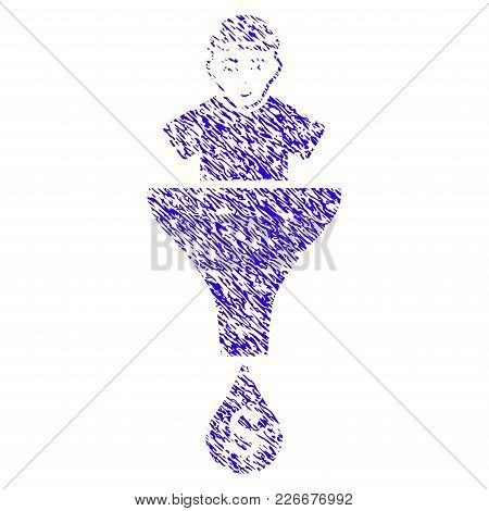 Grunge Client Sales Funnel Rubber Seal Stamp Watermark. Icon Symbol With Grunge Design And Unclean T