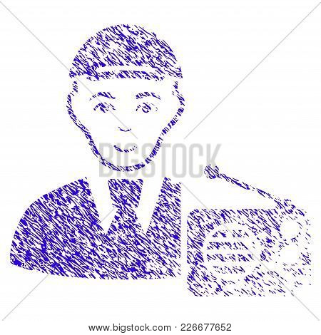 Grunge Radio Listener Rubber Seal Stamp Watermark. Icon Symbol With Grunge Design And Unclean Textur