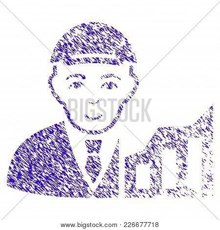 Grunge Stock Trader Rubber Seal Stamp Watermark. Icon Symbol With Grunge Design And Dirty Texture. U