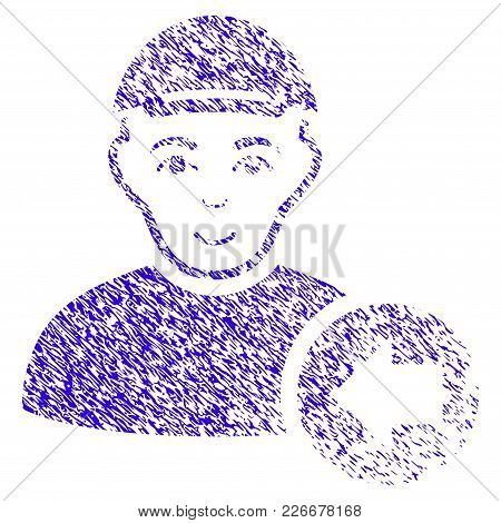 Grunge Previous Man Rubber Seal Stamp Watermark. Icon Symbol With Grunge Design And Scratched Textur