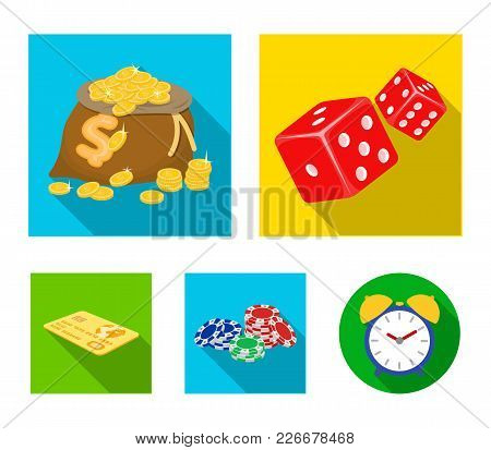 Excitement, Recreation, Hobby And Other  Icon In Flat Style.casino, Institution, Entertainment, Icon