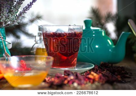 Hibiscus Thea From Rose Carcade Herbal Herbal Tea With Rose Hips And Kalina Diuretic And Cleansing S