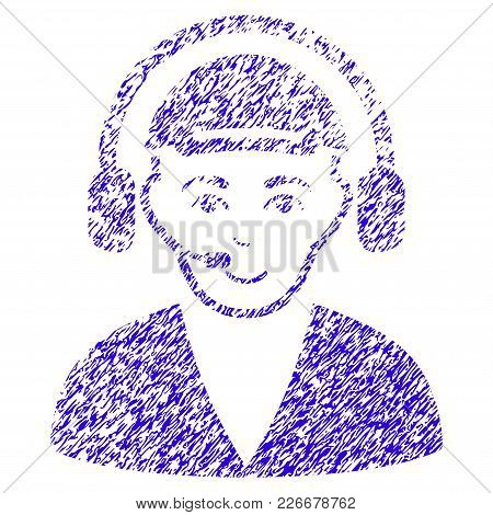 Grunge Call Center Operator Rubber Seal Stamp Watermark. Icon Symbol With Grunge Design And Dirty Te