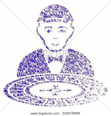 Grunge Roulette Croupier Rubber Seal Stamp Watermark. Icon Symbol With Grunge Design And Scratched T
