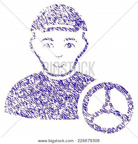 Grunge Car Driver Rubber Seal Stamp Watermark. Icon Symbol With Grunge Design And Unclean Texture. U