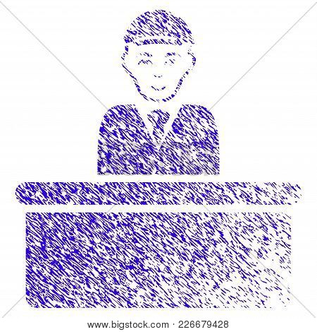 Grunge Official Guy Rubber Seal Stamp Watermark. Icon Symbol With Grunge Design And Dust Texture. Un