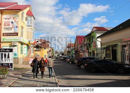 Kosiv Ivano-frankivsk Region / Ukraine - 29 October 2017 / Ukraine: People Walk On The Streets Of Th