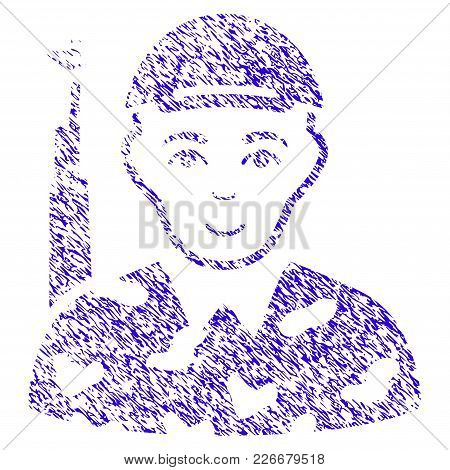 Grunge Soldier Rubber Seal Stamp Watermark. Icon Symbol With Grunge Design And Dirty Texture. Unclea