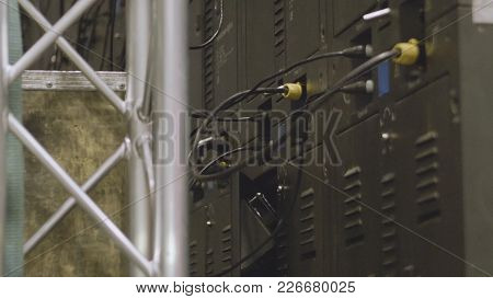 Electrician Engineer Tests Electrical Installations And Wires On Relay Protection System. Bay Contro