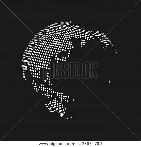 World globe black imgenes ilustraciones y vectores world globe white dotted 3d earth world map globe in black background vector illustration gumiabroncs Image collections