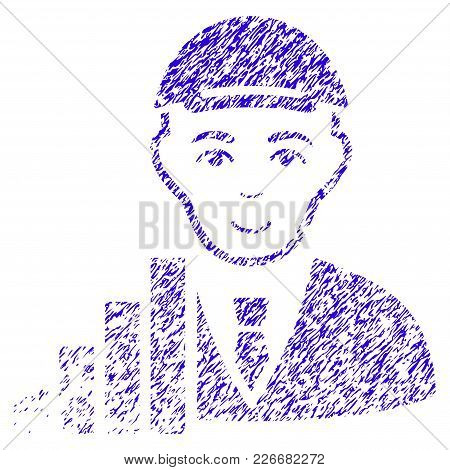 Grunge Stock Trader Rubber Seal Stamp Watermark. Icon Symbol With Grunge Design And Dust Texture. Un