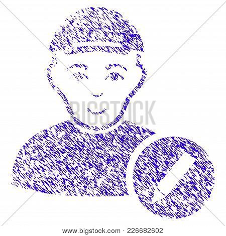 Grunge Modify User Rubber Seal Stamp Watermark. Icon Symbol With Grunge Design And Dirty Texture. Un