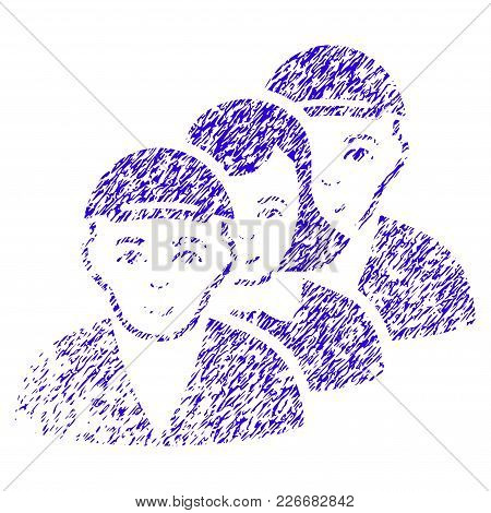 Grunge People Queue Rubber Seal Stamp Watermark. Icon Symbol With Grunge Design And Dirty Texture. U
