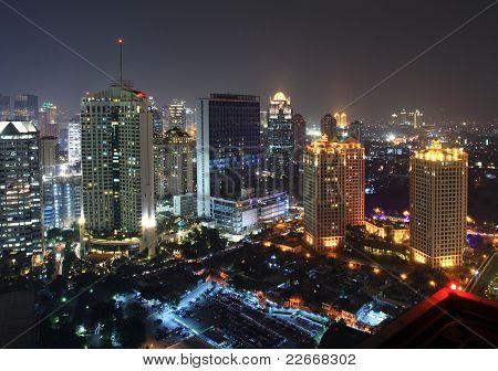 Night view of Jakarta city