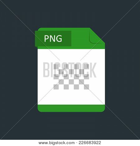 PNG file type icon. Vector illustration isolated on a dark blue background. poster