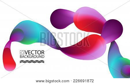 Abstract Digital Hologram Style Geometric Trendy Background. With Place For Your Message. Business O