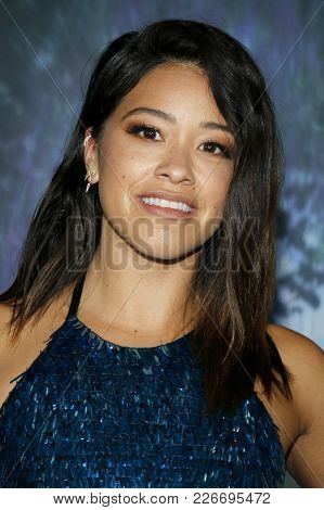 Gina Rodriguez at the Los Angeles premiere of 'Annihilation' held at the Regency Village Theater in Westwood, USA on February 13, 2018.