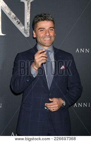 LOS ANGELES - FEB 13:  Oscar Isaac at the