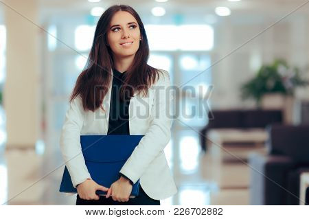 Female Entrepreneur  Business Executive Manager In Office Workplace