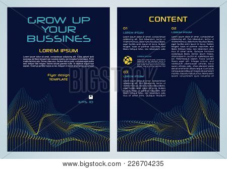 Vector Flyer, Corporate Business, Annual Report, Brochure Design And Cover Presentation With Yellow
