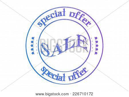 Rubber Stamp Sale Special Offer. 3d Illustration.