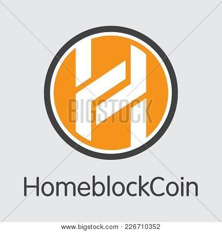 Homeblockcoin: Blockchain Coin Illustration. Blockchain, Block Distribution Hbc Transaction Icon