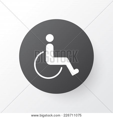 Disabled Handicap Icon Symbol. Premium Quality Isolated Accessibility Element In Trendy Style.