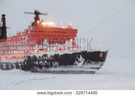 Pevek, Chukchi Region, Russia - Pevek, November 30th, 2017: Ice Breaker