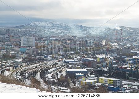 Murmansk, Russia - October 20th, 2017: Murmansk, View On A City With Top.