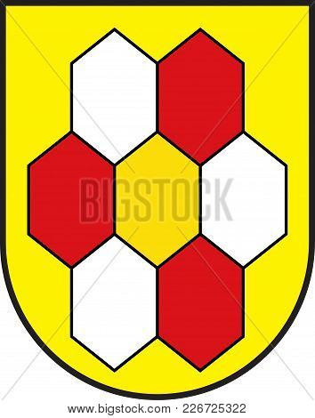 Coat Of Arms Of Bergkamen Is A Town In The District Of Unna, In North Rhine-westphalia, Germany. Vec