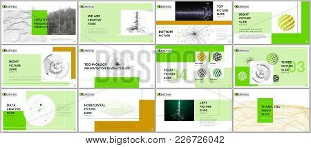 Minimal Presentation Templates. Tech Elements On White Background. Technology Sci-fi Concept Vector