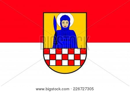 Flag Of Froendenberg Is A Town In The District Of Unna, In North Rhine-westphalia, Germany. Vector I