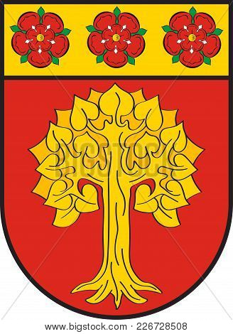 Coat Of Arms Of Selm Is A Town In The District Of Unna, In North Rhine-westphalia, Germany. Vector I